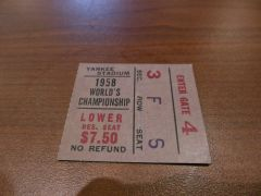 Greatest Game Ever Played - Ticket Stub