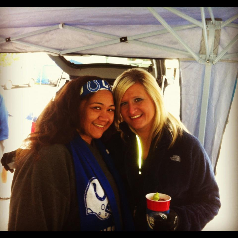 hanging with Pam tailgating