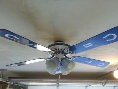 Hand painted ceiling Fan 2