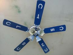 Hand painted ceiling Fan 1
