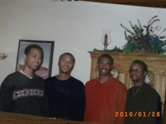 Marvin harrison with some of my cousins..2001-02