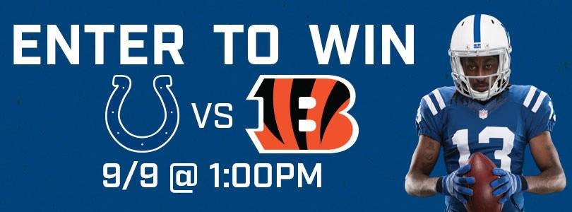 Enter to Win 2 Tickets to Bengals @ Colts Sun 09/09 · 1:00 PM EDT
