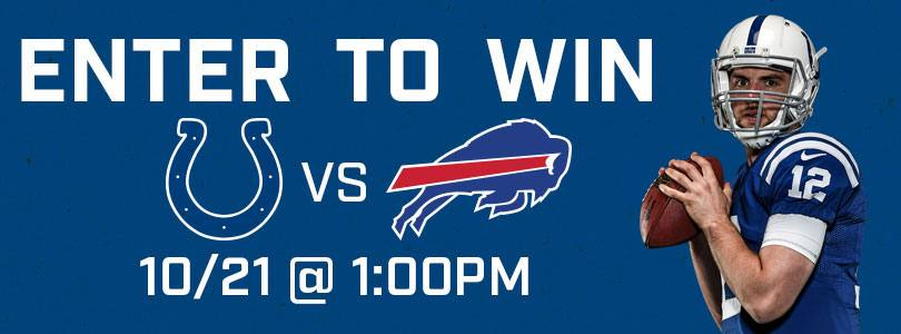Enter to Win 2 Tickets to Bills @ Colts Sun 10/21/18 · 1:00 PM EDT