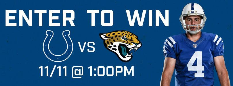 Enter to Win 2 Tickets to Jaguars @Colts · Sun 11/11 · 1:00 PM EST